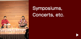 Symposiums, Concerts, etc.